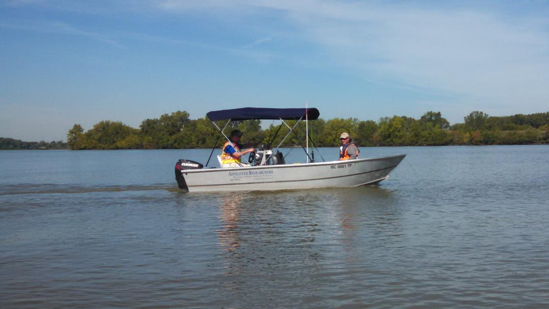 Single Beam Sonar Mapping at Lake Muskegon, MI