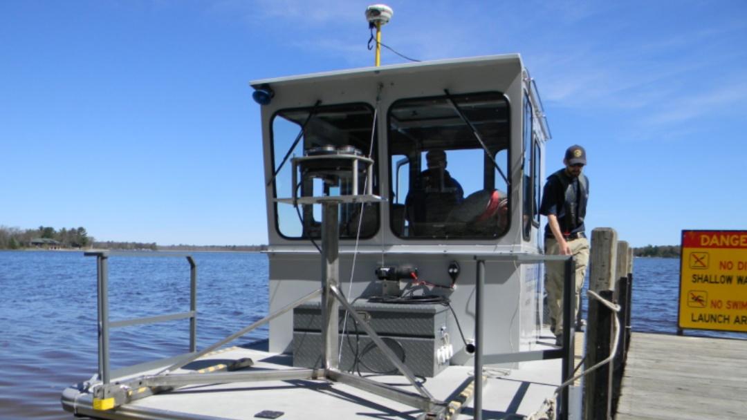 Pore Water Sampling on Lake Michigan