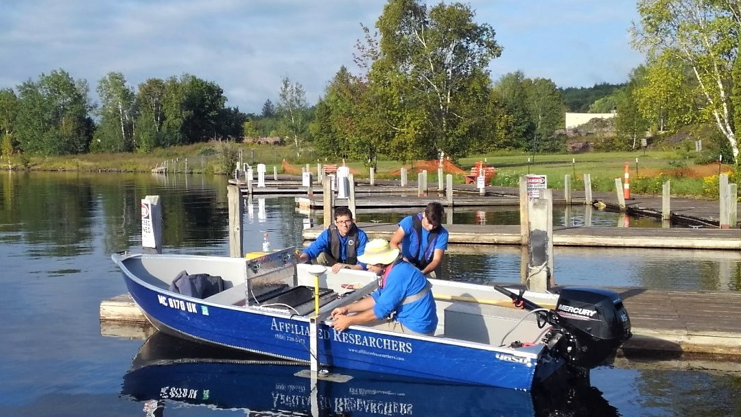 Affiliated Researchers conducts Stream Bathymetry